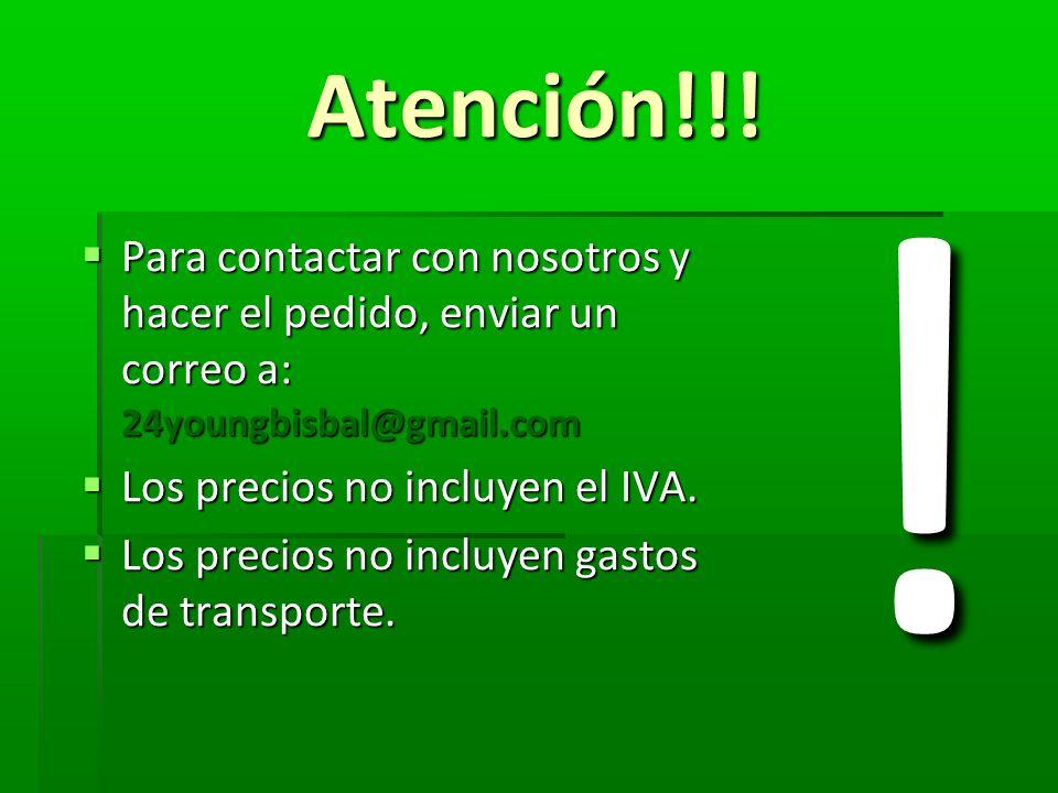 Atención!!! Para contactar con nosotros y hacer el pedido, enviar un correo a: 24youngbisbal@gmail.com Para contactar con nosotros y hacer el pedido,