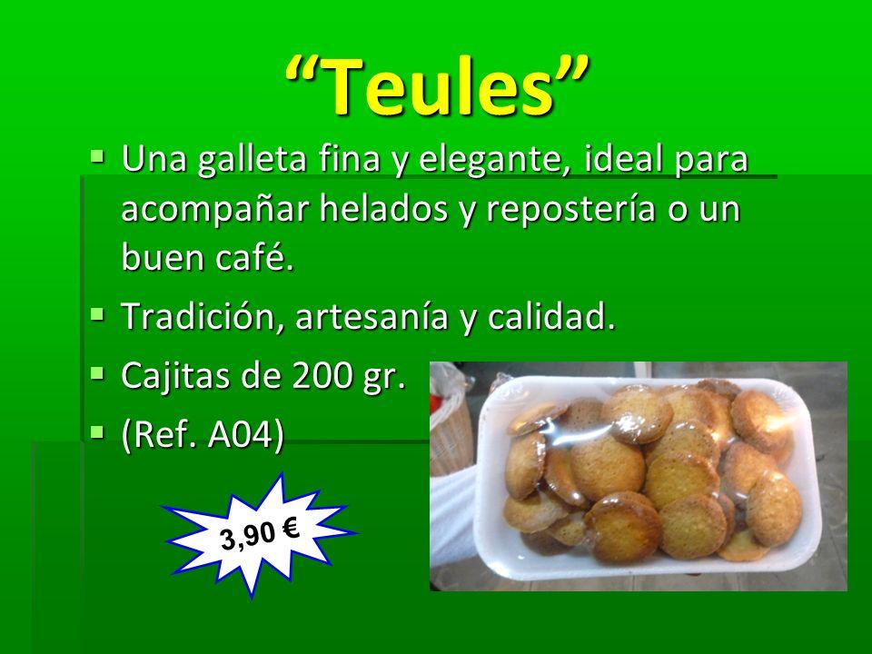 Teules Teules Una galleta fina y elegante, ideal para acompañar helados y repostería o un buen café. Una galleta fina y elegante, ideal para acompañar