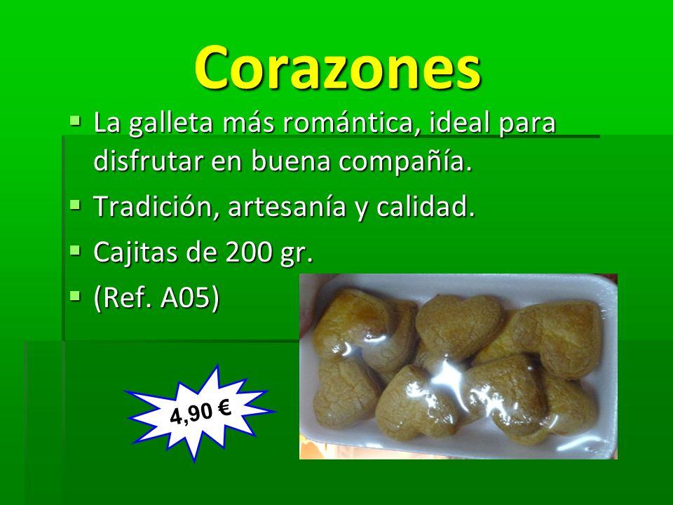 Corazones Corazones La galleta más romántica, ideal para disfrutar en buena compañía. La galleta más romántica, ideal para disfrutar en buena compañía