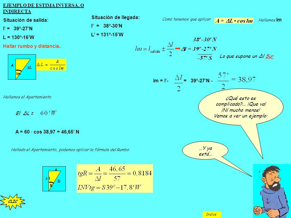 Conocido el Rumbo, falta por conocer la distancia que separa los dos puntos. La distancia la resolvemos con el teorema de Pitágoras: Sustituyendo valo