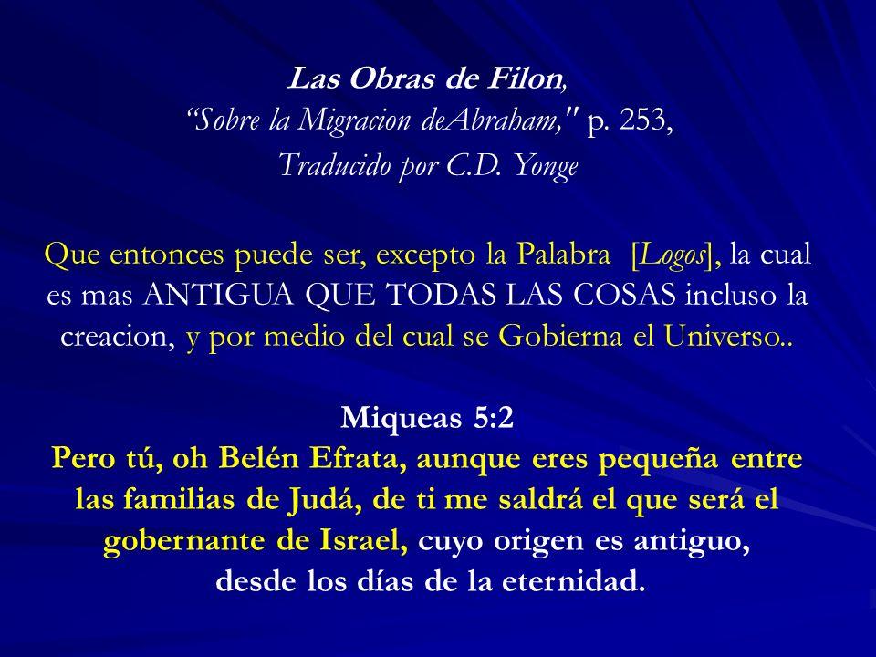 Las Obras de Filon, Sobre la Migracion deAbraham,