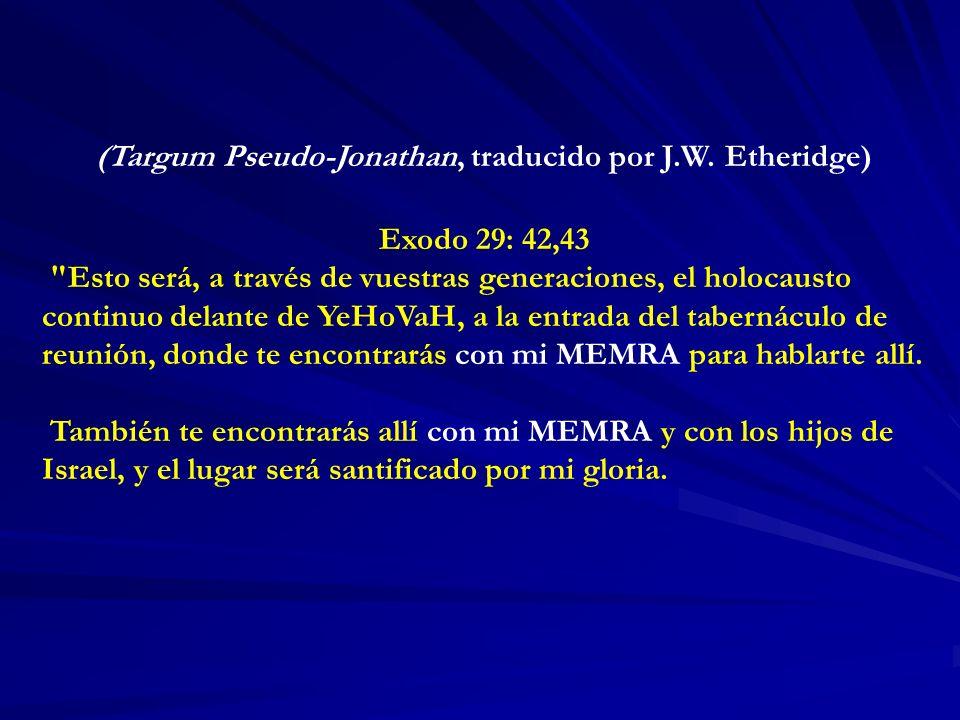 (Targum Pseudo-Jonathan, traducido por J.W.