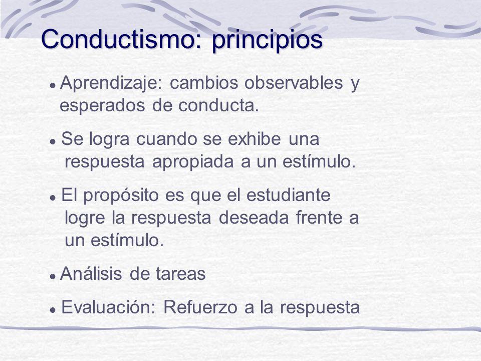 Principios subyacentes en la evaluación