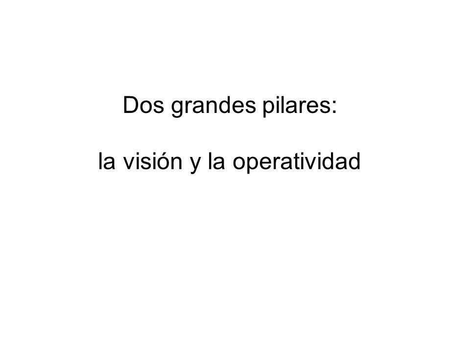 Dos grandes pilares: la visión y la operatividad