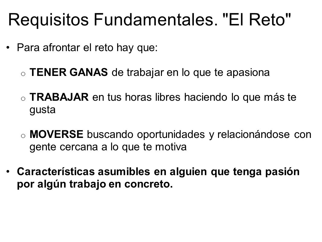 Requisitos Fundamentales.