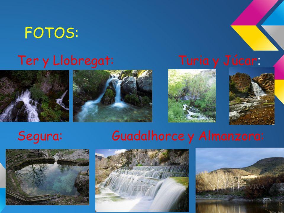 FOTOS: Ter y Llobregat: Turia y Júcar : Segura: Guadalhorce y Almanzora: