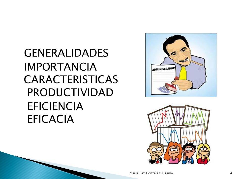 Eficacia: consiste en alcanzar las metas establecidas en la empresa.