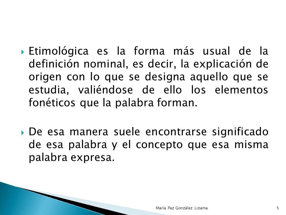 GENERALIDADES IMPORTANCIA CARACTERISTICAS PRODUCTIVIDAD EFICIENCIA EFICACIA 4María Paz González Lizama