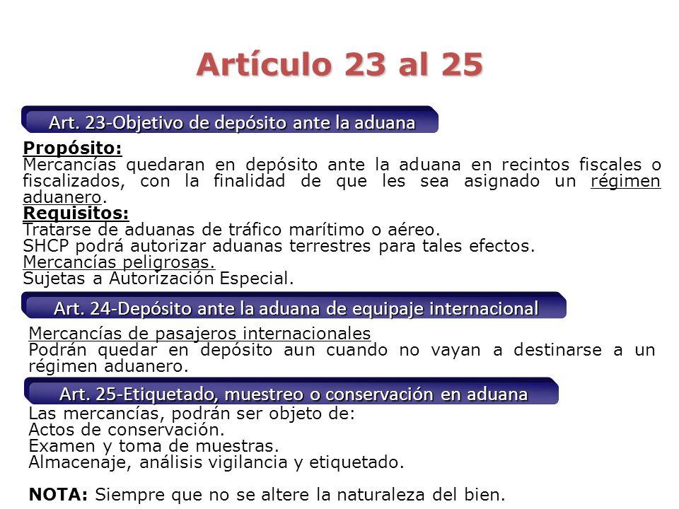 Almacenaje gratuito Referencia Legal: 15 Ley Aduanera V. Permitir el almacenamiento gratuito de las mercancías, de conformidad con lo siguiente a) Imp