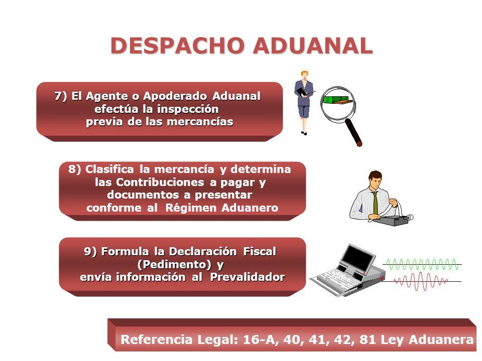 DESPACHO ADUANAL Recinto Fiscal = Administrado por SAT Recinto Fiscalizado = Administrado por IP 5) Se depositan en Almacenes especiales en Aduana Rec