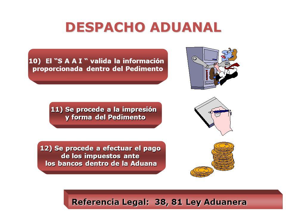DESPACHO ADUANAL 7) El Agente o Apoderado Aduanal efectúa la inspección previa de las mercancías 8) Clasifica la mercancía y determina las Contribucio