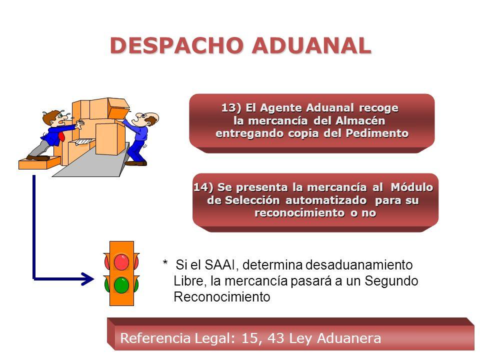 DESPACHO ADUANAL 10) El S A A I valida la información proporcionada dentro del Pedimento 11) Se procede a la impresión y forma del Pedimento 12) Se pr