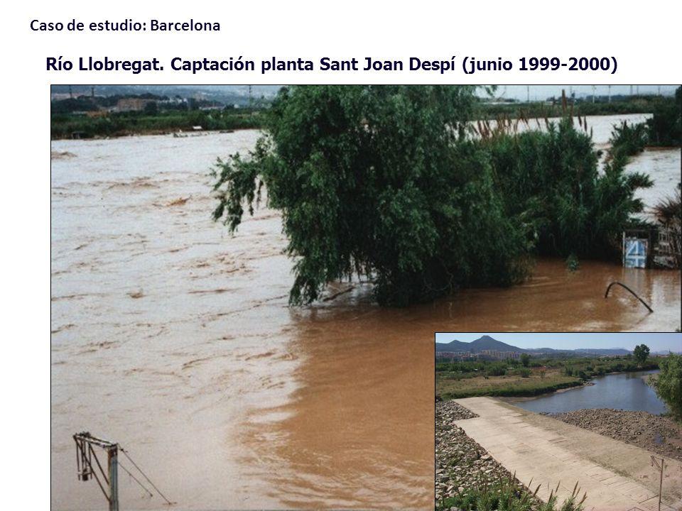 Río Llobregat. Captación planta Sant Joan Despí (junio 1999-2000) Caso de estudio: Barcelona
