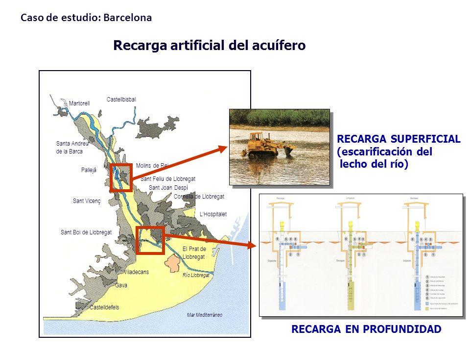 Recarga artificial del acuífero Martorell Castellbisbal Santa Andreu de la Barca Molins de Rei Pallejá Sant Vicenç Sant Boi de Llobregat Viladecans Ga