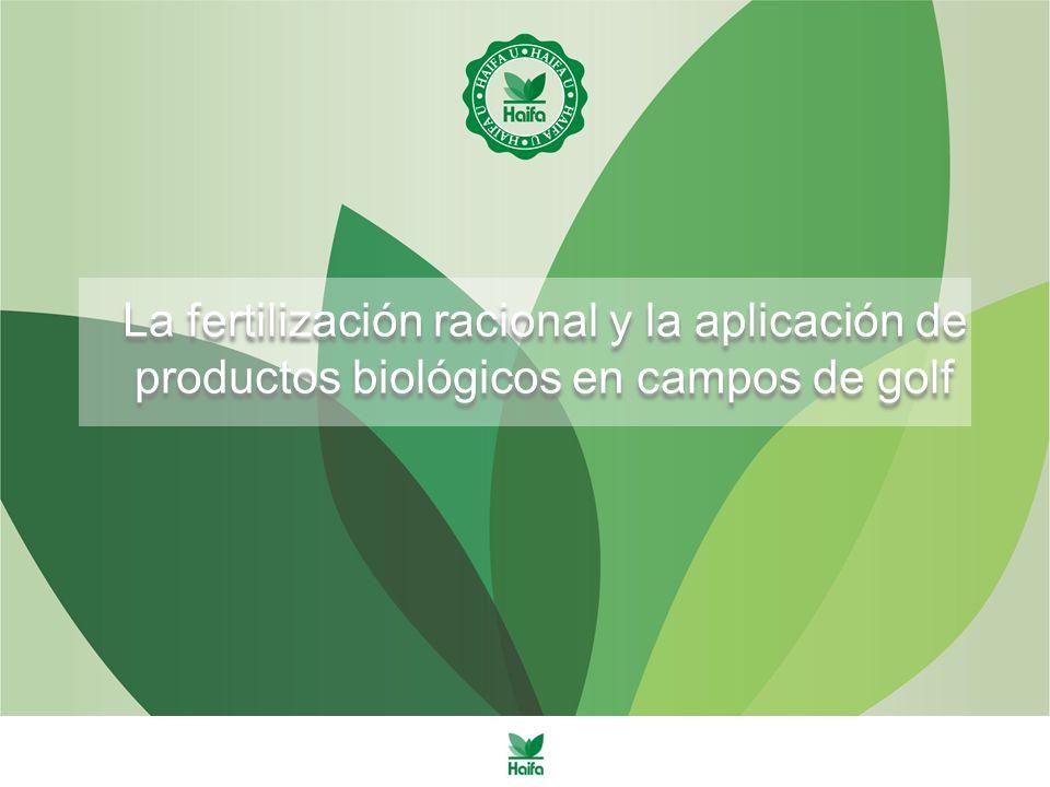 La fertilización racional y la aplicación de productos biológicos en campos de golf