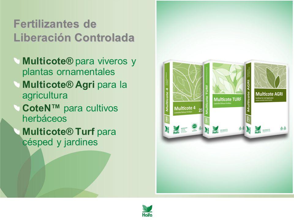 Control de malas hierbas Los fertilizantes que proporcionan grandes cantidades de nitrógeno de rápida disponibilidad favorecen el desarrollo de malas hierbas Las fuentes efectivas de nitrógeno de liberación controlada ayudan a inhibir el desarrollo de malas hierbas