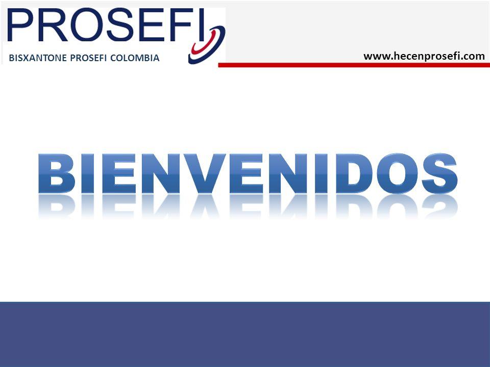 BISXANTONE PROSEFI COLOMBIA Requisitos para activarse en el SISTEMA Llenar la Solicitud de Empresario Independiente y el Contrato de pago de Servicios por franquicia.
