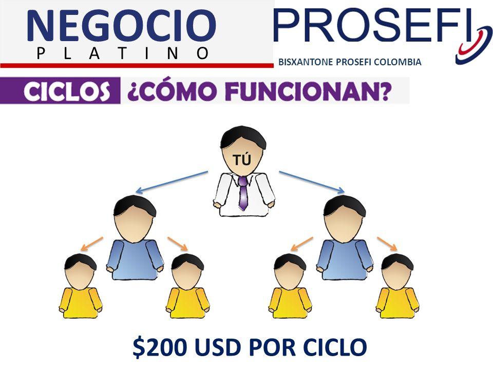BISXANTONE PROSEFI COLOMBIA NEGOCIO P L A T I N O $200 USD POR CICLO