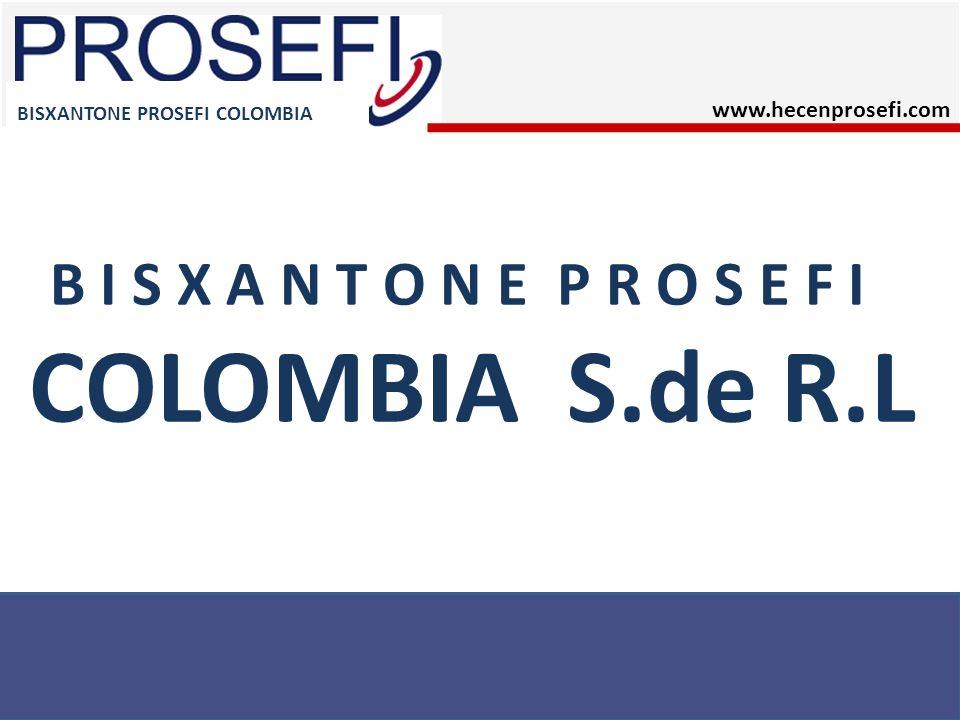 B I S X A N T O N E P R O S E F I COLOMBIA S.de R.L BISXANTONE PROSEFI COLOMBIA www.hecenprosefi.com