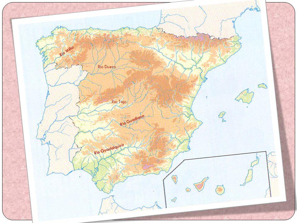 Vertiente Mediterránea Los ríos de la vertiente mediterránea son irregulares, porque discurren por zonas con clima mediterráneo; también sufren largos estiajes en verano y crecidas bruscas en otoño.