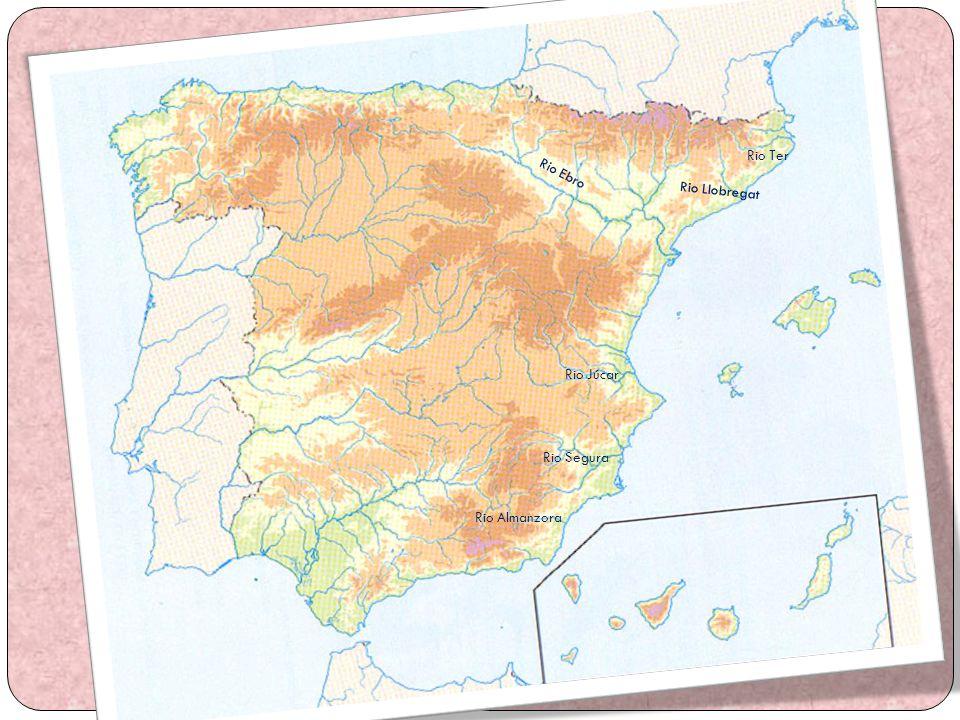 Rio Ebro Rio Ter Rio Llobregat Rio Júcar Rio Segura Rio Almanzora