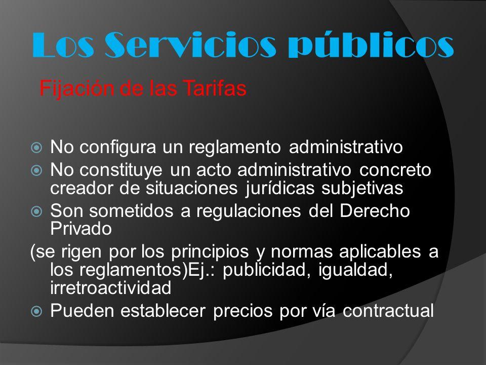 No configura un reglamento administrativo No constituye un acto administrativo concreto creador de situaciones jurídicas subjetivas Son sometidos a re