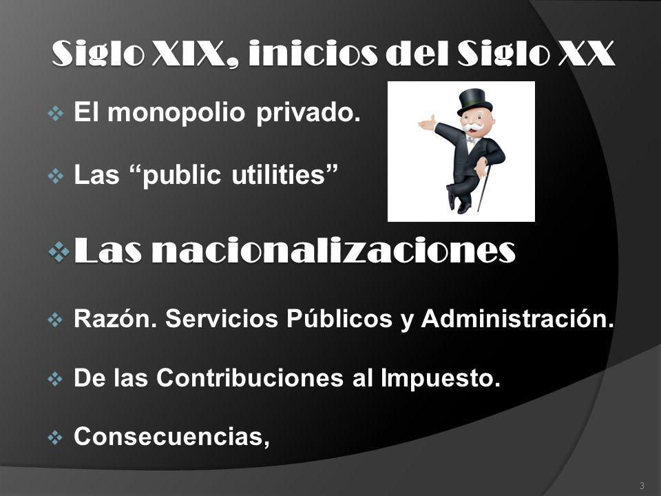 Las privatizaciones La vuelta a los monopolios privados.