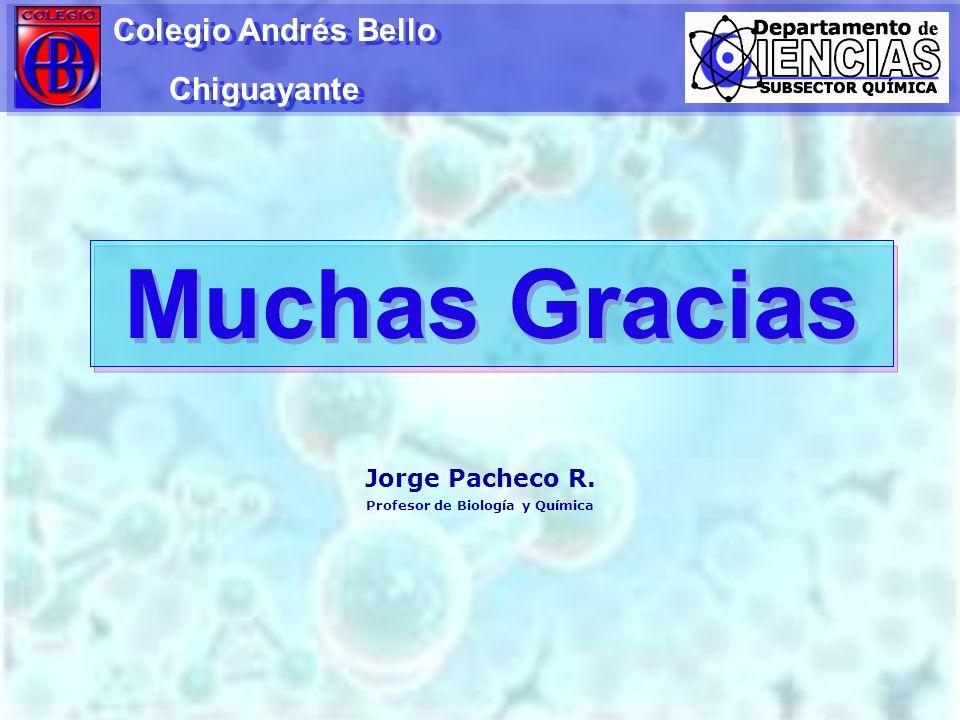 Muchas Gracias Colegio Andrés Bello Chiguayante Colegio Andrés Bello Chiguayante Jorge Pacheco R. Profesor de Biología y Química