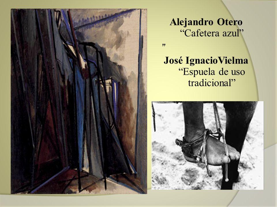 Alejandro Otero Cafetera azul José IgnacioVielma Espuela de uso tradicional