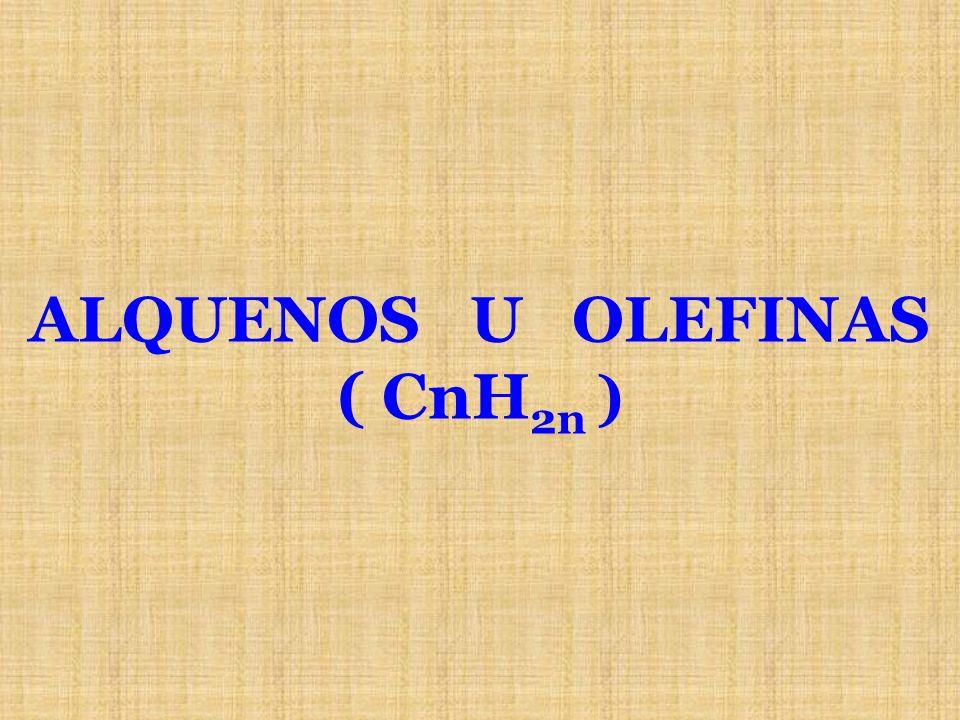 ALQUENOS U OLEFINAS ( CnH 2n )