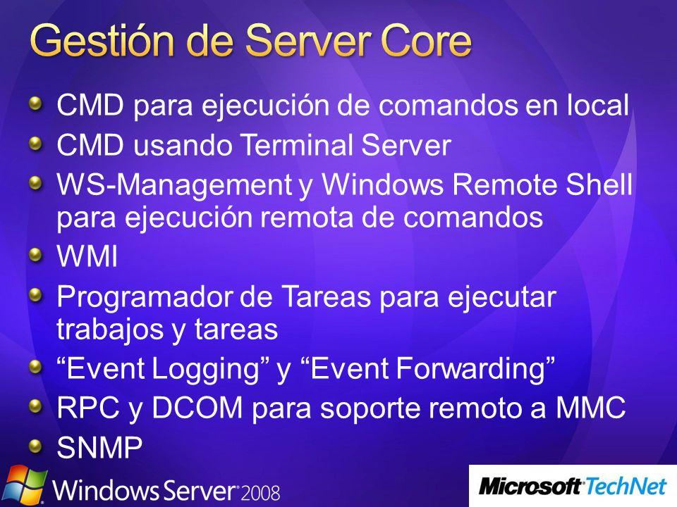 CMD para ejecución de comandos en local CMD usando Terminal Server WS-Management y Windows Remote Shell para ejecución remota de comandos WMI Programa