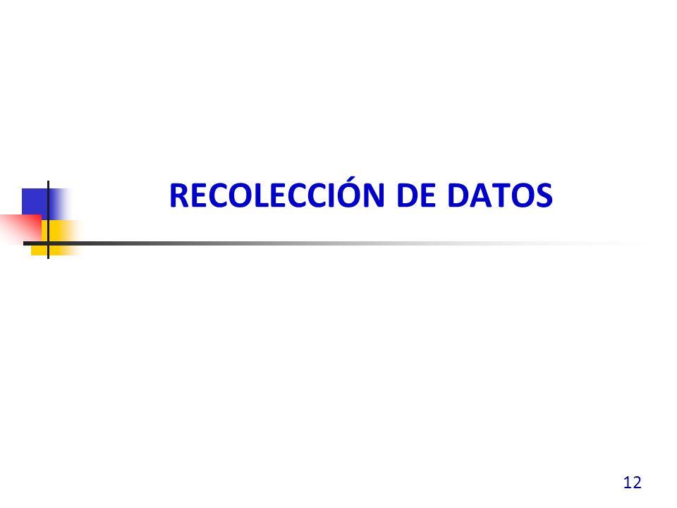 RECOLECCIÓN DE DATOS 12