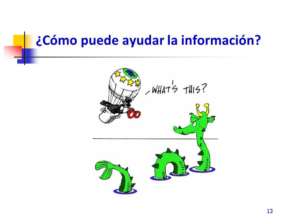 ¿Cómo puede ayudar la información? 13