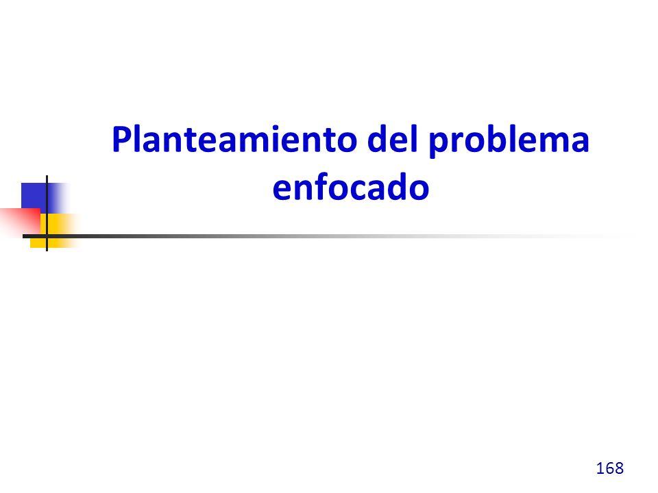 Planteamiento del problema enfocado 168