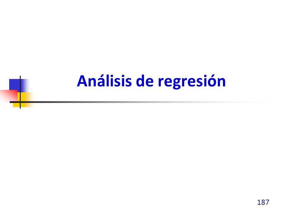 Análisis de regresión 187