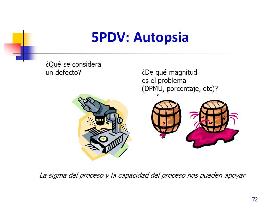 5PDV: Autopsia 72 ¿Qué se considera un defecto.