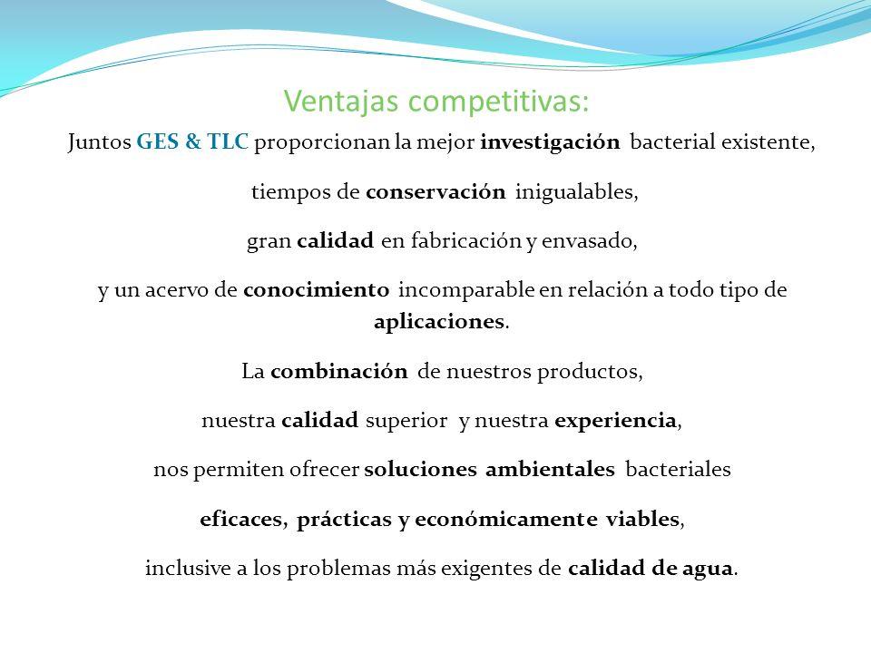Ventajas competitivas: Juntos GES & TLC proporcionan la mejor investigación bacterial existente, tiempos de conservación inigualables, gran calidad en