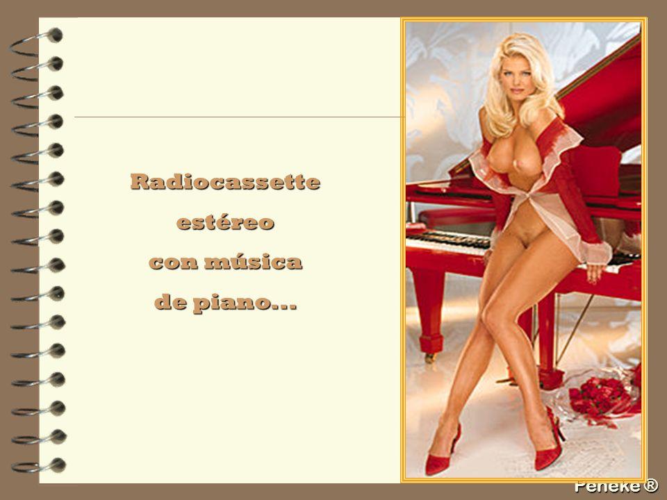 Peneke ® Radiocassetteestéreo con música de piano...
