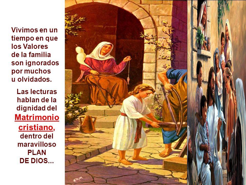 + El texto finaliza con una referencia a los NIÑOS, las mayores víctimas de una familia rota: - Las madres llevan sus hijos hasta Jesús para que los bendiga.