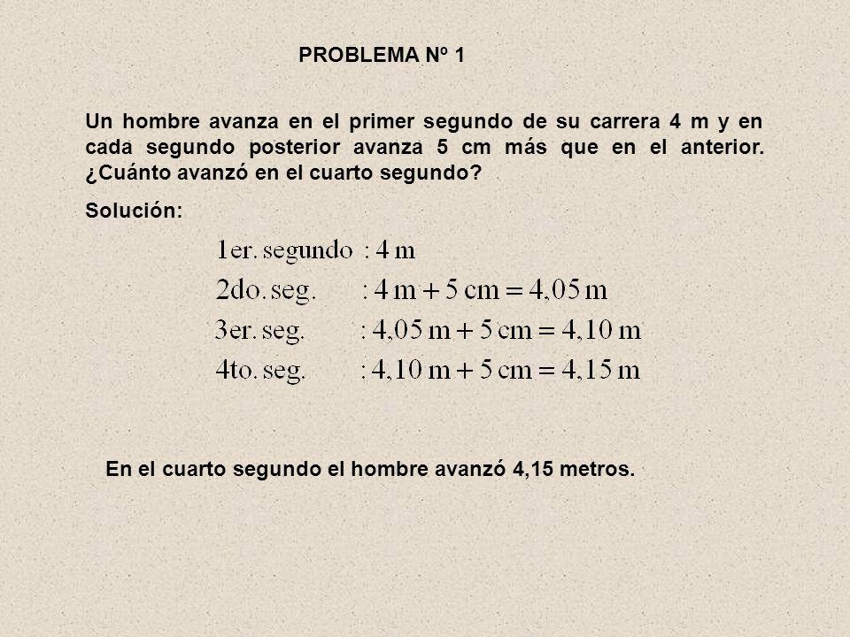 Luego, la fórmula aplicada para sumar los términos de esta progresión aritmética fue … Analizando este proceso tenemos que: Primer término Último término Nº de términos