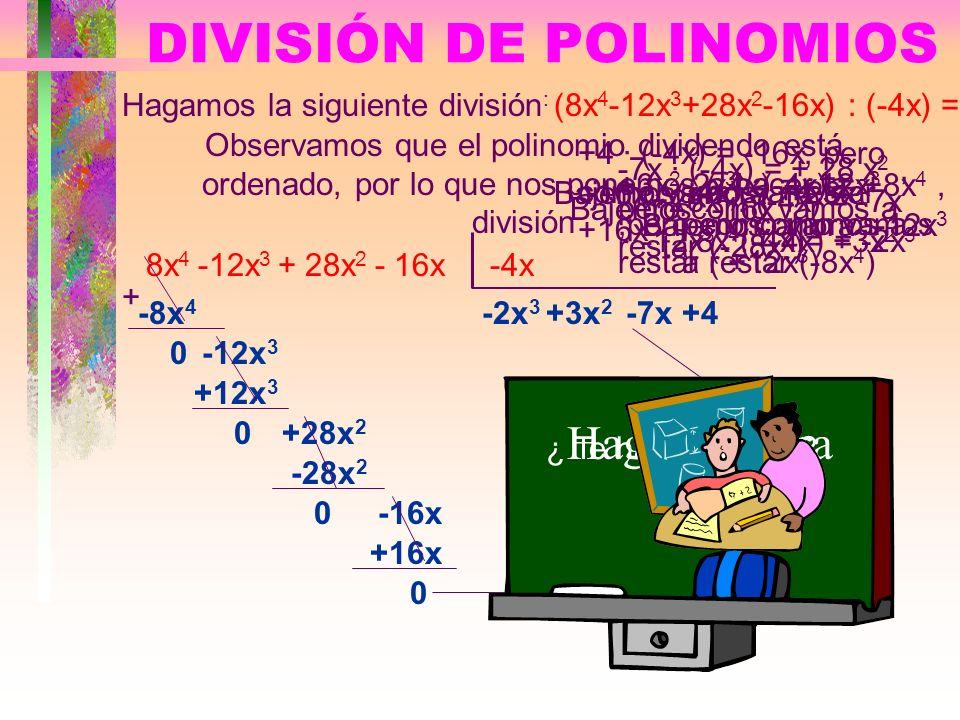 Producto de polinomios Hallar el siguiente producto:(4x 2 -3x+4) ·(3x-5)= 4x 2 - 3x + 4 3x - 5 · En primer lugar multiplicamos el monomio -5 por el po