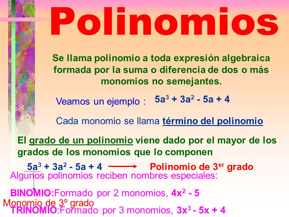 División de un polinomio por otro polinomio Hasta ahora hemos dividido un polinomio por un monomio.