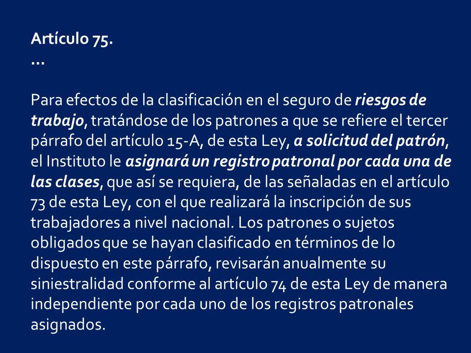 Artículo 75....