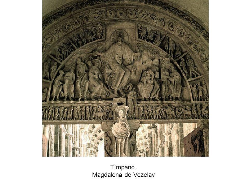 Tímpano. Magdalena de Vezelay