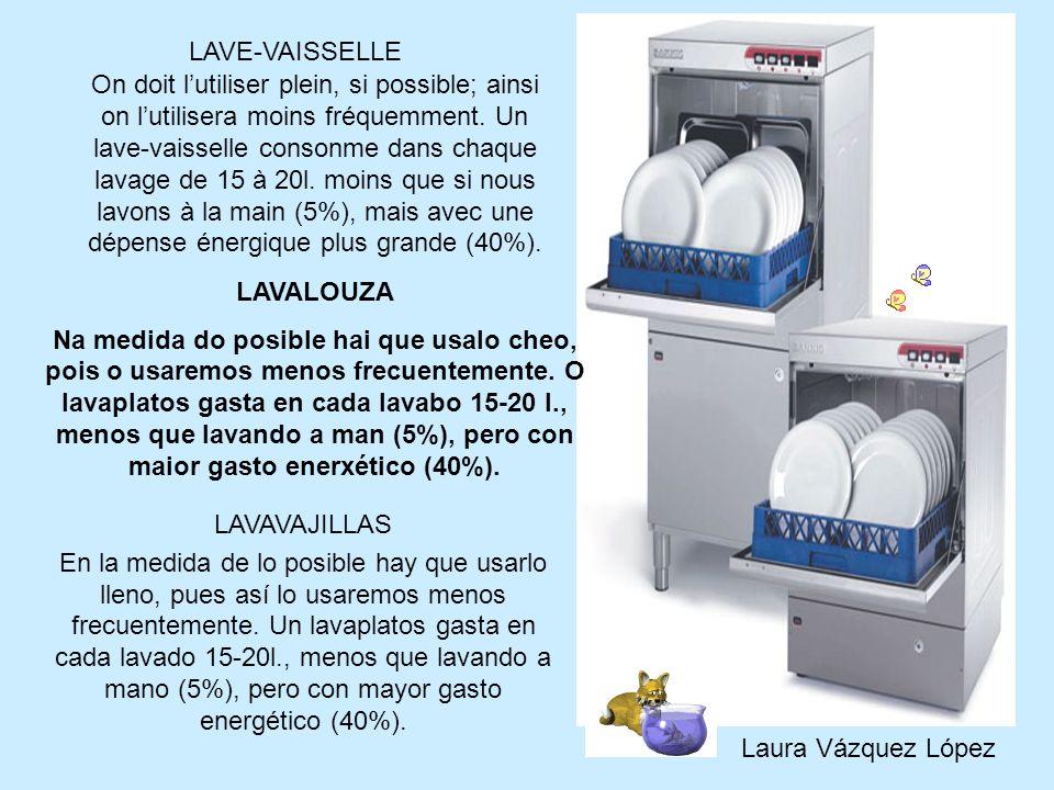 On doit lutiliser plein, si possible; ainsi on lutilisera moins fréquemment. Un lave-vaisselle consonme dans chaque lavage de 15 à 20l. moins que si n