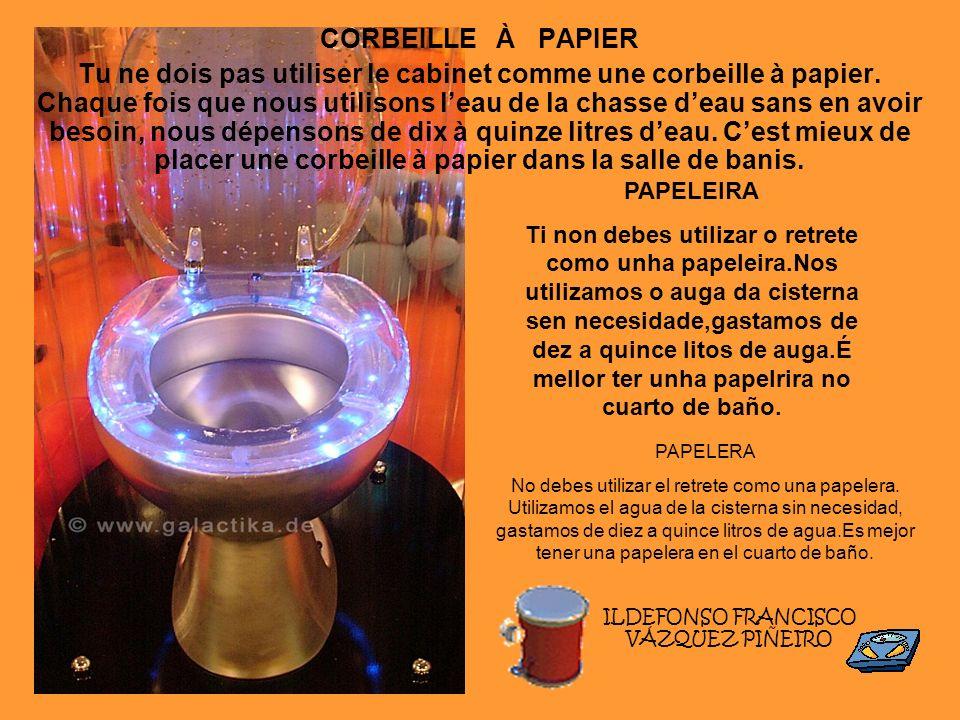 ILDEFONSO FRANCISCO VÁZQUEZ PIÑEIRO CORBEILLE À PAPIER Tu ne dois pas utiliser le cabinet comme une corbeille à papier. Chaque fois que nous utilisons