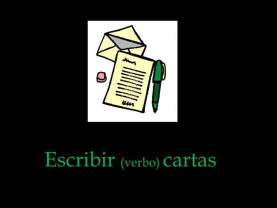 Escribir (verbo) cartas
