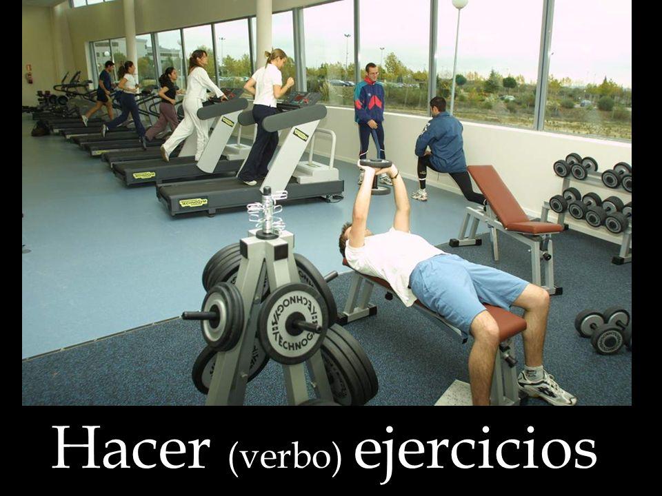 Hacer (verbo) ejercicios