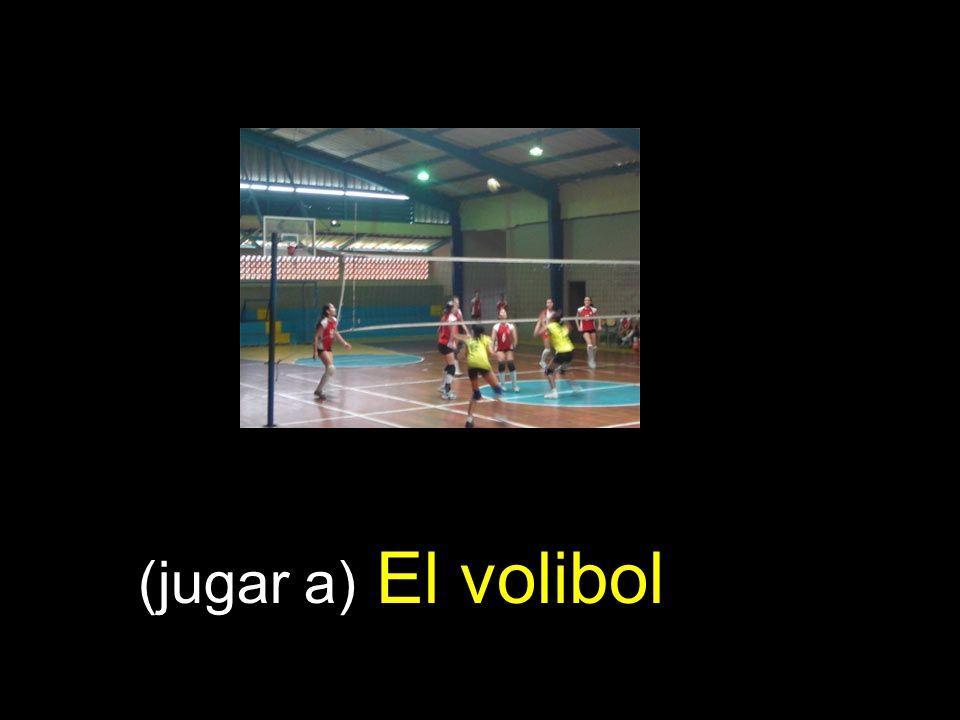 (jugar a) El volibol