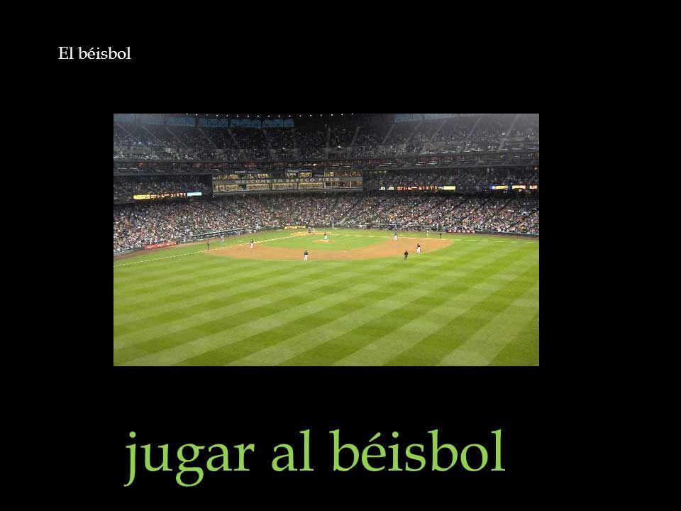 El béisbol jugar al béisbol